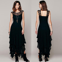 women-boho-hippie-style-asymmetrical-lace-bodycon-dress-sexy-long-double-layered-ruffled-trimming-low-v-back-dresses BBL