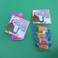 SANTA'S BUBBLE GUM, Christmas tag, stocking stuffer,personalized favors