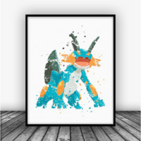 Swampert Pokemon Go Art Print Poster
