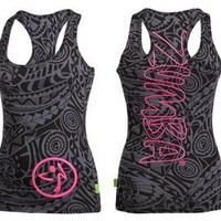 top zumba noir tribal S M