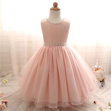 Infant Princess Party Dresses For Baby Girl Christening Gown Newborn 1st Birthday Baby Girl Dress Outfits Tulle Dresses 2 Years