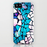 Turquoise and blue mosaic-(photograph) iPhone Case by Sylvia Cook Photography | Society6