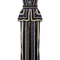 Striped Beaded Dress | Moda Operandi