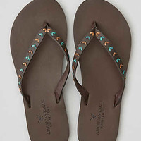 AEO Chevron Lace Flip Flop , Dark Brown