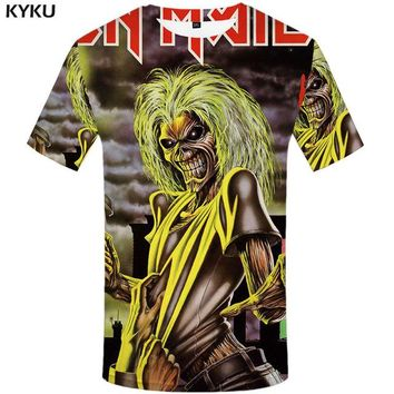 Anime T-Shirt cosplay KYKU Brand Skull T-shirt men band T shirt Anime clothes hip hop tee music 3d print t shirt Gothic punk rock mens clothing summer AT_57_4