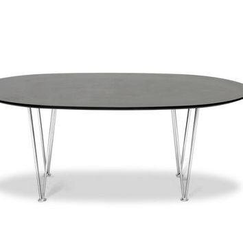 Baxton Studio Hubbard Oval Mid-Century Modern Coffee Table