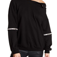 TOV | Detachable Bottom Dolman Sweatshirt | Nordstrom Rack