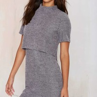 Glamorous Two For One Ribbed Dress