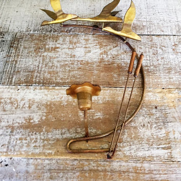 Candle Sconce Brass Geese Wall Candle Holder Mid Century Brass Candlestick Holder Rustic Wall Mount Candlestick Holder Brass Duck Wall Art