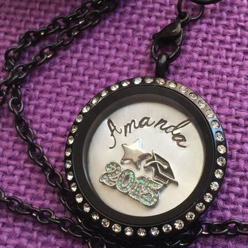 Graduation Gift - Graduation Necklace - Personalized Locket - Graduation Locket - Class of 2015 - Gift for Her - Graduation ceremony