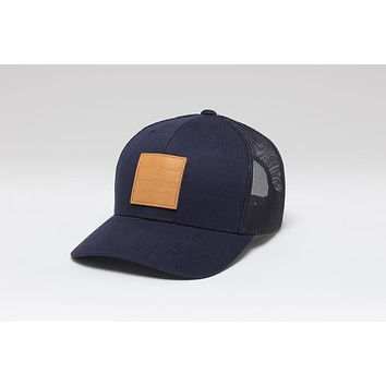 Impressed leather patch Cap