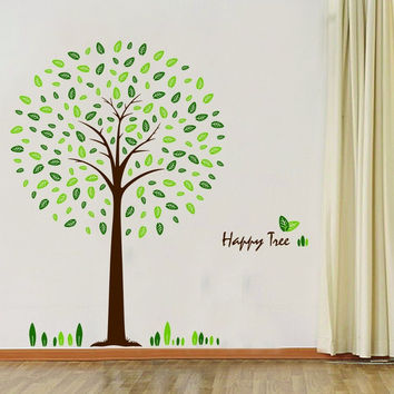 Hunnt Happy Tree Wall Sticker Decal Ideal for Kids Room Baby Nursery Living R...
