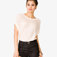 Open Knit Boxy Top | FOREVER 21 - 2047822396