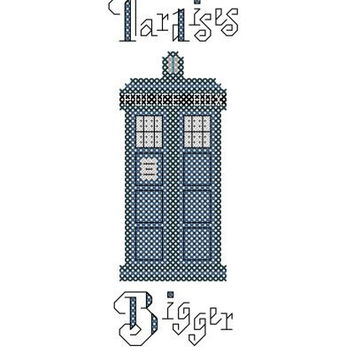 Books and Tardises - Doctor Who/Tardis Inspired PDF Cross Stitch Pattern - INSTANT DOWNLOAD