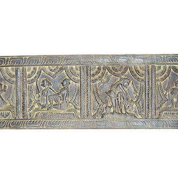 Vintage Carving Headboard Handcarved Kamasutra Spiritual Journey Of Love Decorative Decor, Wall Hanging, Wall Decor