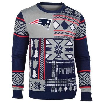 PEAPYD9 New England Patriots Official NFL Ugly Sweater - Choose your Style!