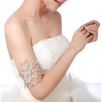 DCCKIX3 Bridal Jewelry  Colour bride rhinestone hair accessory accessories arm ring Shoulder chain = 1929914820