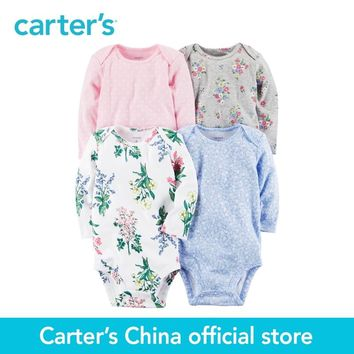 Carter's 4pcs baby children kids 4-Pack Long-Sleeve Bodysuits 126G658,sold by Carter's China official store