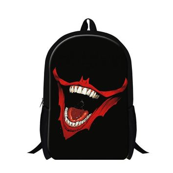 Skull School Bags for Teenagers Fashionable Backpacks for boys guy back pack child stylish bookbags bagpack for Primary students
