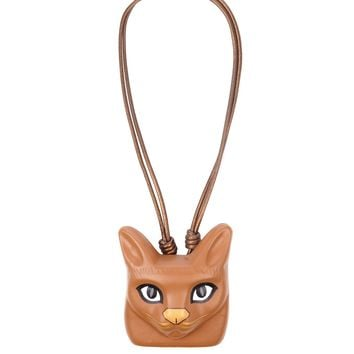 Cat Face leather necklace | Loewe | MATCHESFASHION.COM US