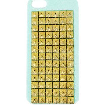 GOLD STUD IPHONE 5 CELL CASE - Mint