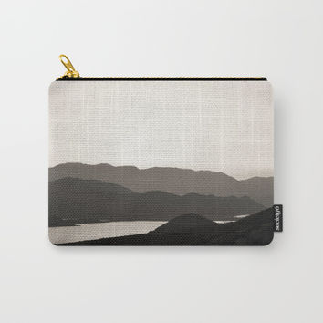 Mountains and a lake Carry-All Pouch by ARTbyJWP