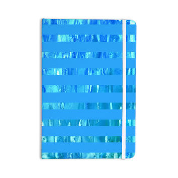 "Rosie Brown ""Wet Wild Stripes"" Aqua Blue Everything Notebook"