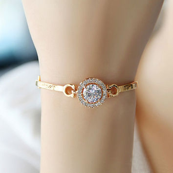 A Little Of Nuance Rhinestone Bangle