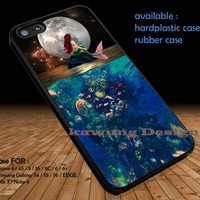 The Moon Ariel The Little Mermaid DOP177 iPhone 6s 6 6s+ 5c 5s Cases Samsung Galaxy s5 s6 Edge+ NOTE 5 4 3 #cartoon #disney #animated #theLittleMermaid