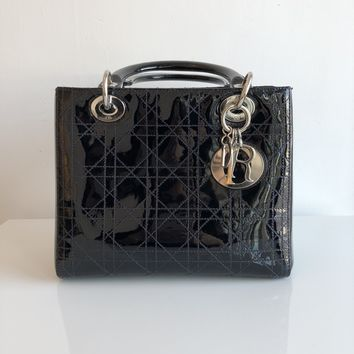 Authentic CHRISTIAN DIOR Patent Lady Dior