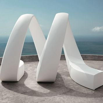 Sectional garden bench AND by VONDOM design Fabio Novembre