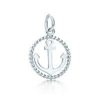 Tiffany & Co. - Tiffany Twist anchor charm in sterling silver, small.