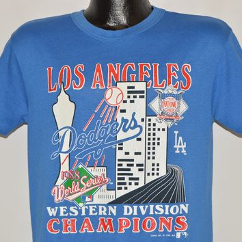 80s Dodgers 1988 Western Division Champs t-shirt Mediu