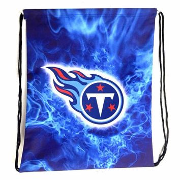 Tennessee Titans Drawstring Bags Men Backpack Digital Printing Pouch Customize Bags 35*45cm Sports Fan Flag