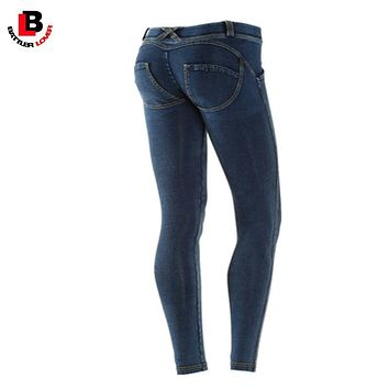 BATTLERLOVER Women Sexy Skinny Push Up Jeans Pencil Pant Female Denim Trousers Pantalon Mujer Slim Elastic Pants Jegging Stretch