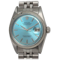 Rolex Stainless Steel Datejust Wristwatch with Custom-Colored Dial circa 1964