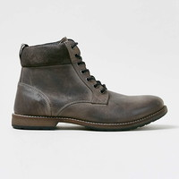 Grey Leather Cuff Boots