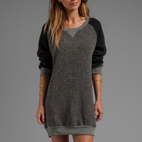 Somedays Lovin Rambling Man Sweater Dress in Grey Marle/Black from REVOLVEclothing.com