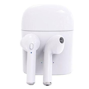 Stylish Bluetooth Headphones Wireless Earbuds Stereo Earphone Cordless Sport Headsets for Iphone AirPods iphone 8, 8 plus, X, 7, 7 plus, 6s, 6S Plus with Charging Case White