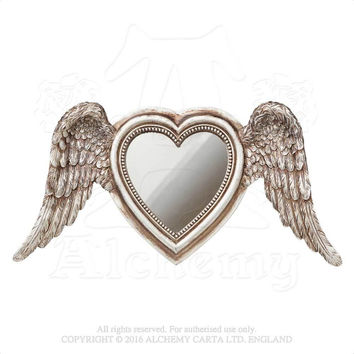 Alchemy Gothic Shades of Alchemy Winged Heart Mirror