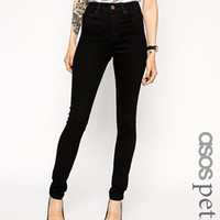 ASOS PETITE Ridley High Waist Ultra Skinny Jeans In Clean Black at asos.com