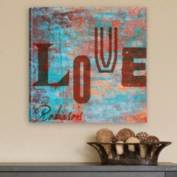 Graffiti Style Love Canvas Print