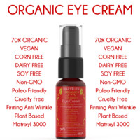 Organic Vitamin Eye Cream - Unscented Firming Anti-Wrinkle Eye Cream/Gel