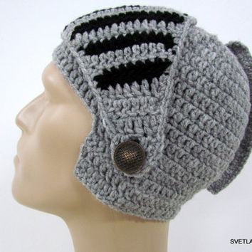 Men's Hat crochet Helmet, Hat Men crochet, Hat Snowboard Men Slouch Hat, Winter Mask Bikes
