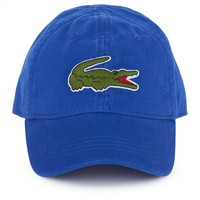 Lacoste Boys Washed Blue Branded Baseball Cap | AlexandAlexa