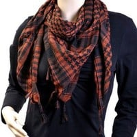 Brown & Black Houndstooth Urban Hipster Shemagh