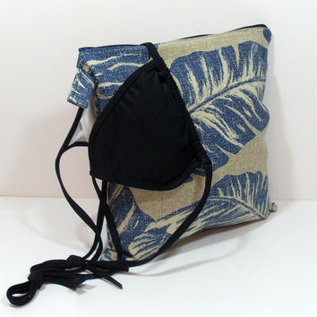 Tropical Leaf Wet Bag, Summer Wet Bag, Wet Bag for Pool, Waterproof Bag, Vacation Wet Bag, Wet Dry Bag, Summer Zipper Bag, Bathing Suit Bag