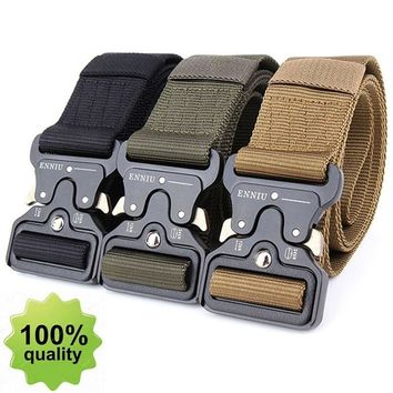Tactical Belt Men's Military Belt SWAT Combat Equipment Belt Army Training Carry Waist Belt Men Casual Outdoor Hunting Waistband