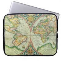 Antique Map laptop case Laptop Computer Sleeve