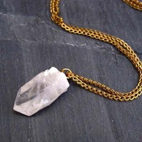 Kryptonite Icicle Quartz Necklace